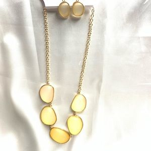 NEW‼️CharmingCharlie gold+yellow necklace+earrings